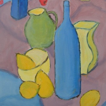 Lemons Bottles and Jugs