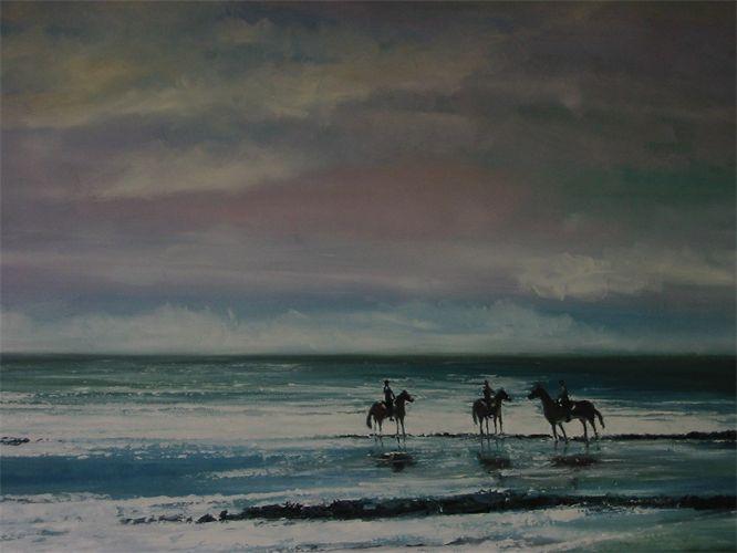 Riders on the beach Minnis Bay Kent