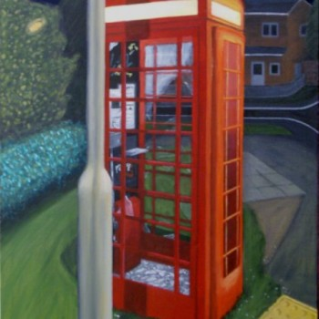 Ripped up phone booth