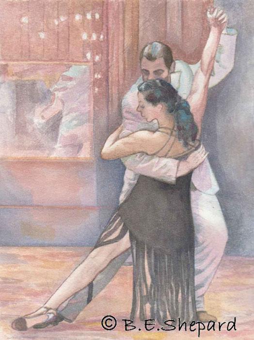 Tango-Eleanora-y-Martin-20-cm-x-27cm,-water-colour-