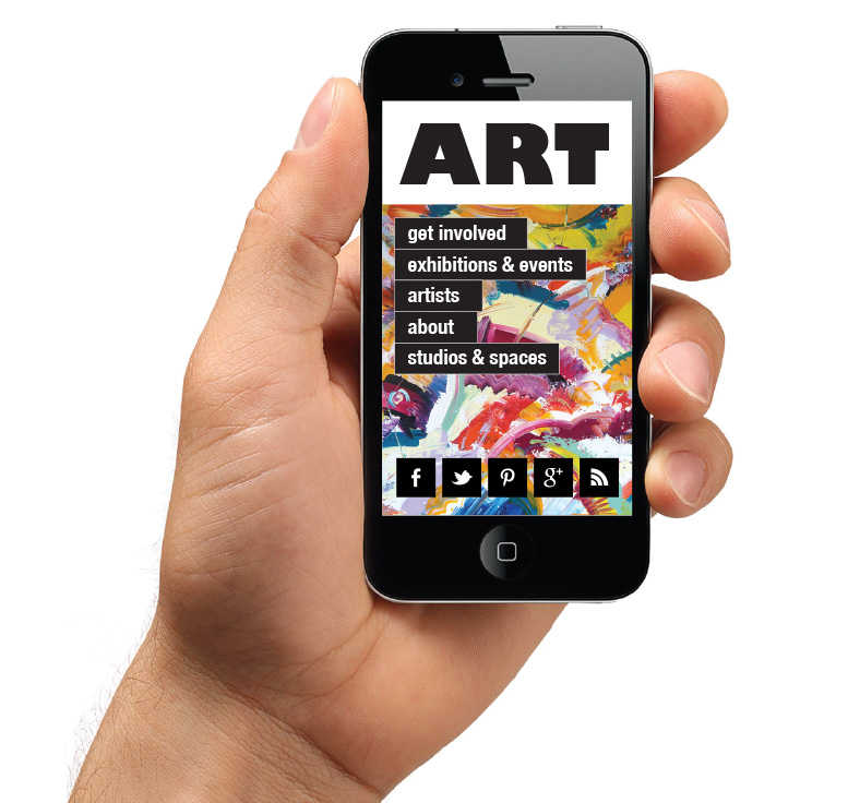 Mobile-optimised-art-website