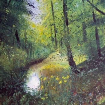 Pond-yellow-irises-
