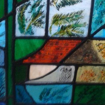 Greek--House-in-Kefalonia--STAINED-GLASS-18.5-width-by-24.5-