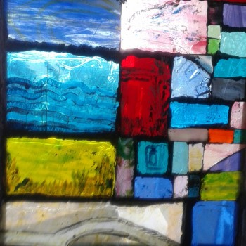 STAINED-GLASS-MOSAIC--ST-IVES--Cornwallwidth-18-by-25-inches-