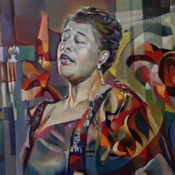 Ella Fitzgerald by Sagage