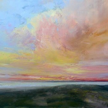 Flirtatious sky_Oil on canvas_50x100cm