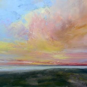 Flirtatious sky_Oil on canvas_50x100cm